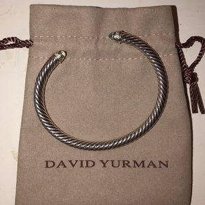 David Yurman Cable Classic Bracelet with Peridot
